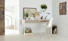 IKEA Micke 2-drawer desk with PANYL in Pale Oak