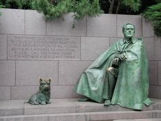 As a testimony to the important role Fala played in the President's life, a statue of him alongside Roosevelt is featured in Washington, D.C.'s Franklin Delano Roosevelt Memorial.  Fala is the only presidential pet with this honor.