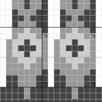 Riddari, mönster med tre färger