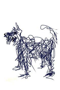 Black dog I phone drawing  a dog a day > sally muir