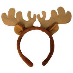 Plush Moose Costume Headband