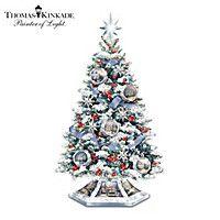 Thomas Kinkade Home For The Holidays Tabletop Tree
