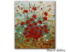 Always with Flowers Decorate your home with the Original Abstract bouquet of wildflowers painting. New and in excellent condition. Directly from my studio. size: 36 x 30x 1.75 (91.5 x 76 x 4.5cm) MEDIUM: Acrylic. Impasto CANVAS: 1.75 Gallery Wrapped Canvas, the sides painted in