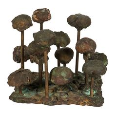 """Harry Bertoia Melt-Pressed Sculpture Untitled """"Poppies"""" 