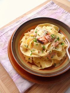 pappardelle with hot smoked salmon & chives   milliemirepoix