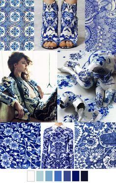 Viene pisando fuerte la tendencia azul , estampados orientales