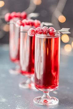 Sugared Cranberry Ginger Mimosas - The Cookie Rookie®