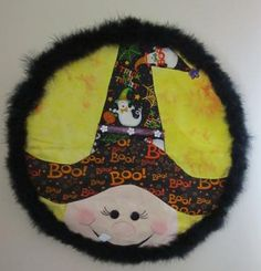 Halloween Witch and Moon Wall Hanging by Kittenmade for $15.00