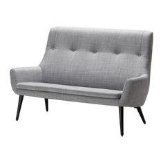HEMSTANÄS 2-pers. sofa, høj ryg, Isunda grå, træ Isunda grå/træ