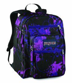 Dark purple and blue floral Jansport
