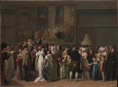 The Public Viewing David's Coronation at the Louvre Louis Léopold Boilly (French, La Bassée 1761–1845 Paris) Date: 1810