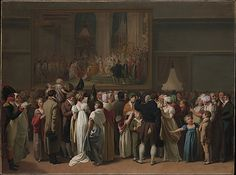 "Louis Léopold Boilly (French, 1761–1845). The Public Viewing David's ""Coronation"" at the Louvre, 1810. The Metropolitan Museum of Art, New York. Gift of Mrs. Charles Wrightsman, 2012 (2012.156) #paris"
