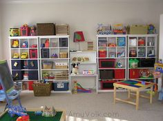 finished toy room after organizing