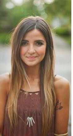 Girls Long Straight Ombre Hair Perfect for Dark Hair