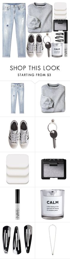 """""""Lazy days"""" by itsfashioninfinity on Polyvore featuring R13, adidas Originals, Maison Margiela, COVERGIRL, NARS Cosmetics, H&M, NLY Accessories and Topshop"""