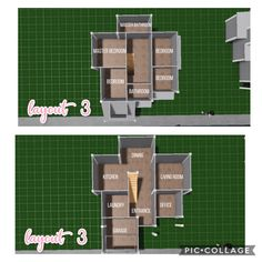 House Floor Design, Two Story House Design, Sims 4 House Design, Tiny House Layout, House Layout Plans, Unique House Design, House Layouts, Sims 4 House Plans, New House Plans