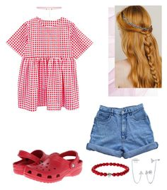 """""""Untitled #78"""" by lovena21 ❤ liked on Polyvore featuring Bill Blass, Crocs, BERRICLE and 8 Other Reasons"""