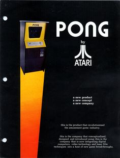 #Flyer for the arcade version of #Pong (Atari, 1972).