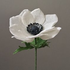 Crepe Paper Anemone, Single Stem - Wedding Flowers - Home Decor - Florist Supply - Paper Flowers by NectarHollow on Etsy https://www.etsy.com/listing/294808775/crepe-paper-anemone-single-stem-wedding