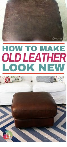I had no idea how to restore leather furniture, but this makes it look so easy. I can't wait to try it on my couch! I had no idea how to restore leather furniture, but this makes it look so easy. I can't wait to try it on my couch! Diy Cleaning Products, Cleaning Hacks, Car Cleaning, Diy Hacks, Grand Menage, Diy Inspiration, Furniture Inspiration, Glass Cooktop, Leather Cleaning