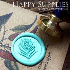 1pcs Peacock Feather Gold Plated Wax Seal Stamp (WS071) on Etsy, $11.14 AUD