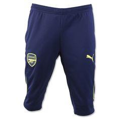 PUMA Men's Arsenal FC 3/4 Training Pants Pea Coat/Safety Yellow