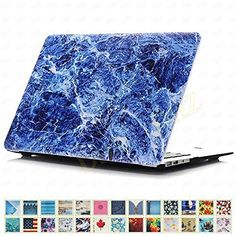 """DHZ MacBook Air 11.6"""" Case - Marble Style Blue Waves Ultra Slim Plastic Hard Shell Protective Cover for Apple MacBook Air 11 inch (Models: A1370 and A1465), http://www.amazon.co.uk/dp/B01GIB62CY/ref=cm_sw_r_pi_awdl_x_5w70xbDZF37MM"""