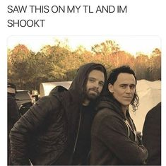 Bucky and Loki Marvel Actors, Loki Thor, Marvel Dc Comics, Marvel Heroes, Marvel Avengers, Avengers Cast, Avengers Memes, Marvel Jokes, Marvel Funny