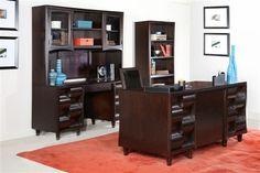 Fuqua Traditional Cherry Wood Office Furniture Set
