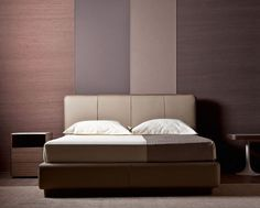 """Double bed / Letto matrimoniale """"Ermes"""" by Rodolfo Dordoni for Flou. #Beds…"""