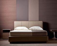 "Double bed / Letto matrimoniale ""Ermes"" by Rodolfo Dordoni for Flou. #Beds #Bedroom #Letto #InteriorDesign #HomeDecor #Design #Arredamento #Furnishings"