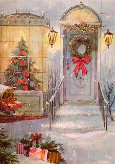 Window shopping at Christmas.
