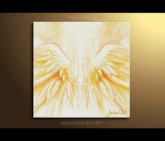 Prophetic art Angel Wings, original acrylic painting - Angel of Mercy - Original christian art by Jessica Ostrander. $350.00, via Etsy.