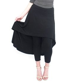 Soft, cotton-blend fabric ensures lasting comfort, while a lightweight skirt brings alluring movement to your look.Size S/M: 28'' inseam90% cotton / 10% polyesterMachine wash; tumble dryImported
