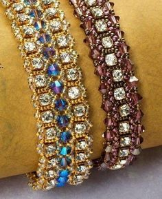 Bracelets with strass tutorial - 1