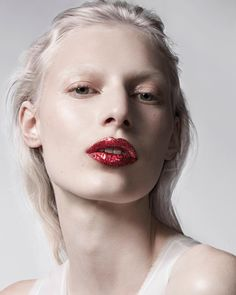 """thebeautymodel: """"""""Kiss and Make Up"""" Julia Nobis by Liz Collins for The Sunday Times Style January 8, 2017. Stylist: Coquito Cassibba Hair: Jordan M Makeup: Pat McGrath Nails: Casey Herman """""""
