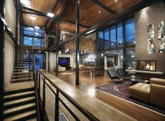 Airport House - Denver Contemporary Residence - contemporary - Living Room - Denver - Architectural Workshop
