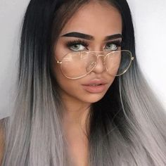 Size Matters! Oversized Big Aviator Clear Lens Metal Frame Eyeglasses Glasses #AW #Aviator