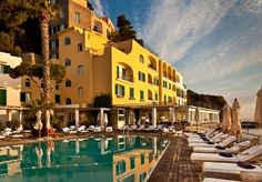 A luxurious five-star retreat on the island of Ischia with a seafront setting, sauna and hammam access and a bottle of prosecco
