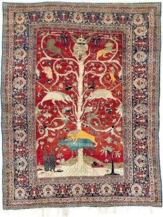 Lot 100, Heriz silk rug, Rippon Boswell