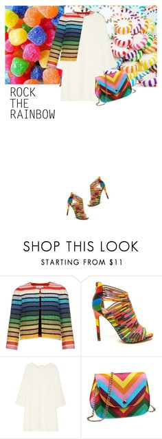 """rock the rainbow"" by saramoreira ❤ liked on Polyvore featuring Sonia Rykiel, Helmut Lang, women's clothing, women's fashion, women, female, woman, misses and juniors"