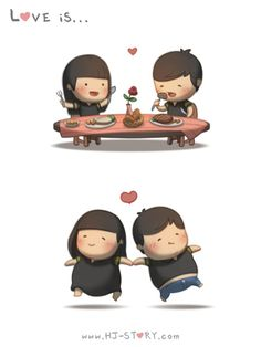 Love is… Eating and getting fat together