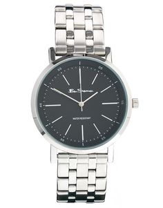 Ben Sherman Black Dial Stainless Steel Strap Watch BS087 - Silver 1a9b2823bc9