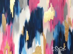 Amanda Michelle 36x48 original abstract painting on high quality gallery wrapped canvas by HLWDesignShop on Etsy