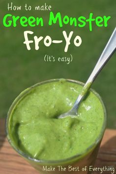 Green monster frozen yogurt in your blender- Make The Best of Everything