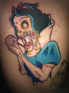 This zombie Snow White is, uh, interesting. | 31 Highly Questionable Disney InspiredTattoos