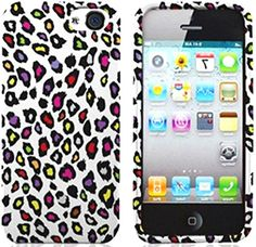 "myLife White, Red, Purple, and Pink {Colorful Rainbow Cheetah Spots} 2 Piece Snap-On Rubberized Protective Faceplate Case for the NEW iPhone 5 and 5S (5G) 5th Generation Phone by Apple ""All Ports Accessible"" myLife Brand Products http://www.amazon.com/dp/B00UY3K184/ref=cm_sw_r_pi_dp_QIbmvb008YJNP"
