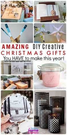 If you are looking for some creative DIY Christmas gifts to make this year, we've got you covered. These are the best DIY Christmas gift ideas. gift ideas DIY Christmas Gifts to Make This Year Diy Christmas Gifts For Boyfriend, Diy Gifts For Girlfriend, Creative Christmas Gifts, Diy Gifts For Dad, Christmas Gifts To Make, Diy Holiday Gifts, Diy Crafts For Gifts, Decor Crafts, Christmas Christmas
