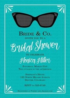Katiedid Designs Breakfast at Tiffany's Bridal Shower Invitations, $54 for 35 on @etsy