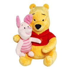 Disney Soft Toys - Pooh & Piglet Soft Boa - 8 Inch - Children typically fall in love with Winnie the Pooh and piglet during their toddler years. This infant-safe 10 inch tall plush toy makes it possible for babies to become enchanted with the critters of the this soft boa.